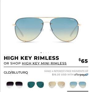 Quay HighKey Rimless Fade Sunglasses